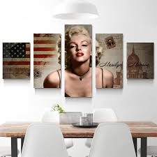 marilyn monroe home decor 5 panel marilyn monroe oil canvas painting picture wall art home
