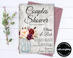 Couple S Shower Invitations Couples Shower Etsy