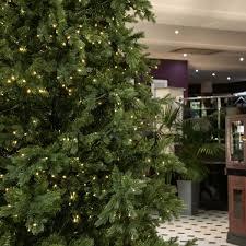 green pre lit richmond fir artificial real feel pe tree