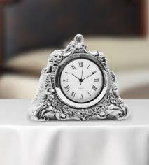table clock potli style the magnificent showpiece silver clock