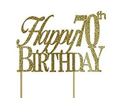 birthday cake toppers all about details gold happy 70th birthday cake topper