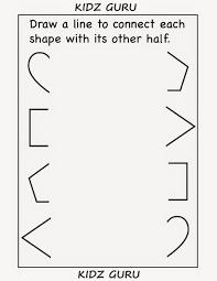 kindergarten worksheets printable worksheets connect other half
