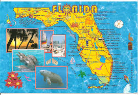 Daytona Florida Map by My Postcard Page Usa Florida Map
