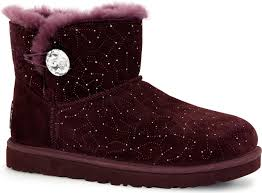 s ugg australia lodge boots ugg australia s mini bailey button bling constellation