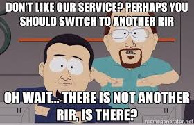 Comcast Meme - don t like our service perhaps you should switch to another rir oh