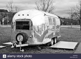 silver airstream caravan in the grounds of the vitra design museum