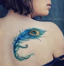 tattoo bulu 3d body 3d abstract peacock feather tattoo on back design idea for men