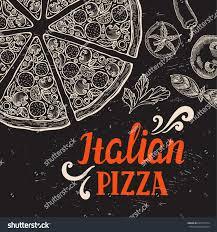 pizza menu graphic element restaurant cafe stock vector 620174774