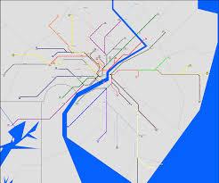 Deland Florida Map by Fantasy Transit Maps Colonial New York Metro Atlanta Urban