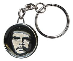 classic key rings images Che guevara key chain with round classic che image pendant jpg