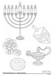 hanukkah coloring page family menorah colouring page