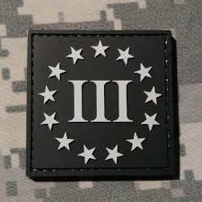 American Flag Morale Patch Three Percenter Square Pvc Morale Patch Neo Tactical Gear
