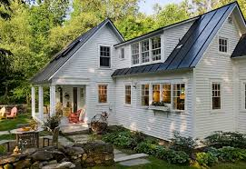 stone house with metal roof houzz