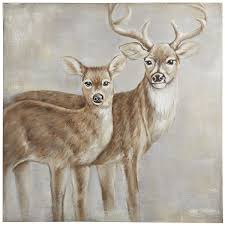deer couple art pier 1 imports canvas art pinterest couple art