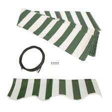 Awning Canvas Replacement Retractable Awning Fabric Replacement 10x8 Feet Green And