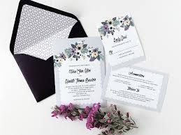 wedding invitation printable vintage floral wedding invitation set
