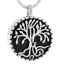 jewelry to hold ashes cmj9420 tree of stainless steel keepsake urns memorial