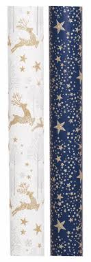 luxury wrapping paper whsmith luxury glittered stag and christmas wrapping paper 2m