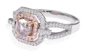 kay jewelers chocolate diamonds 1 45 ct tw cushion citrine white u0026amp rose gold plated over