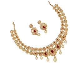 gold har set gold necklace diamonds nakshi neckset diamonds