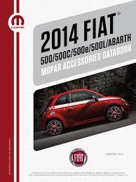 fiat 500 and 500 abarth 2014 accessories catalog fiat500usa com