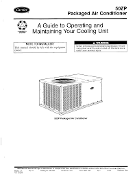 carrier air conditioner 50zp user guide manualsonline com