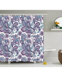 shower curtain bohemic floral country print for bathroom
