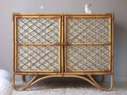 chambre osier commode meuble rangement rotin osier bambou vintage meubles et