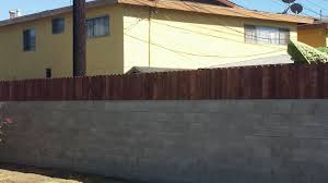 Building A Cinder Block House Build A Privacy Fence On Top Of A Block Wall Youtube