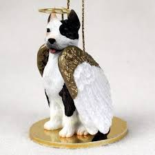 pit bull terrier figurine ornament statue painted