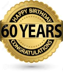 60 years birthday happy birthday 60 years gold label vector illustration royalty free