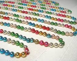 glass bead garland etsy