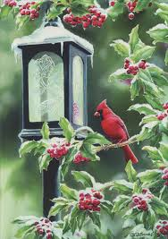 coachlight cardinal card by lpg greetings