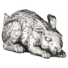 Rabbit Home Decor Home Decor Home Decor U2013 Serafina Silver Rabbit Lying Large