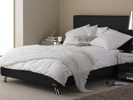 Milan Bed Frame Hyder Black Milan Bed Frame Black Faux Leather Bed