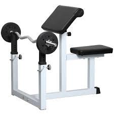 yaheetech commercial preacher arm curl weight bench walmart com