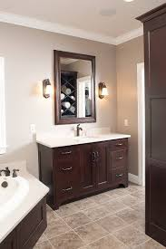 what color goes with brown bathroom cabinets cabinet paint brown bathroom page 1 line 17qq