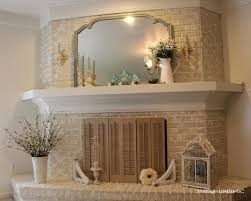 Whitewashing A Fireplace by White Washed Brick Fireplace With White Wood Mantle By Brittany