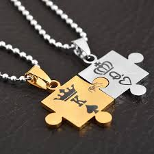 couple necklace images King queen couple necklace trendiscovery jpg