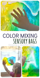 color mixing sensory bags easy to make mess free fun and