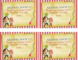 jake neverland pirates birthday labels party labels