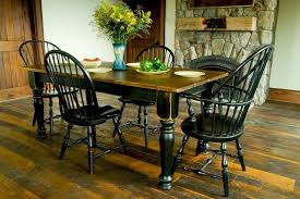 Dining Room Table Black Custom Wood Tables Handcrafted Farmhouse Dining Tables