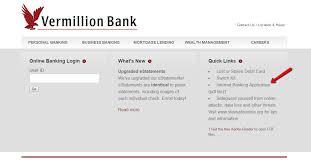 vermillion state bank online banking login cc bank