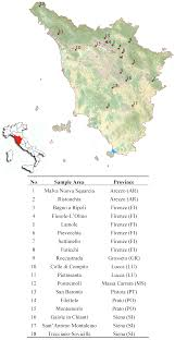 Map Of Tuscany Italy Sustainability Free Full Text Territorial Analysis Of The