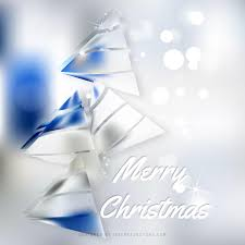 White Christmas Tree With Blue Decorations Blue White Christmas Tree Background Graphics 123freevectors