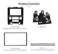Ford Escape Dimensions - for mazda tribute mercury mariner ford escape car stereo frame