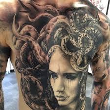 large medusa on guys chest abdomen best design ideas