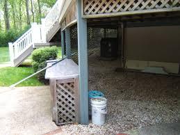 utilizing space under deck space underneath their raised deck to