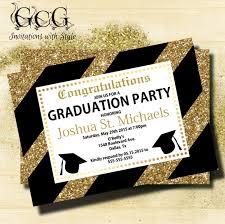 college graduation invitations glitter graduation invitation black and gold graduation