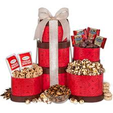 s day basket s day gift tower by gourmetgiftbaskets